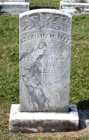 MCAFEE, AZARIAH Y. - Juniata County, Pennsylvania | AZARIAH Y. MCAFEE - Pennsylvania Gravestone Photos