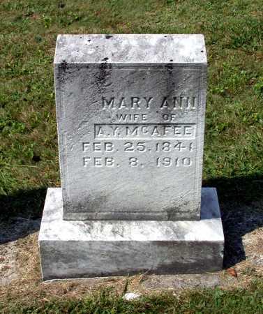 "MCAFEE, MARY ANN ""ELLEN"" - Juniata County, Pennsylvania | MARY ANN ""ELLEN"" MCAFEE - Pennsylvania Gravestone Photos"