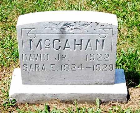 MCCAHAN, SARAH ELIZABETH - Juniata County, Pennsylvania | SARAH ELIZABETH MCCAHAN - Pennsylvania Gravestone Photos