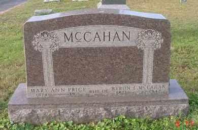 PRICE MCCAHAN, MARY ANN - Juniata County, Pennsylvania | MARY ANN PRICE MCCAHAN - Pennsylvania Gravestone Photos