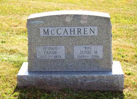 MCCAHREN, FRANK - Juniata County, Pennsylvania | FRANK MCCAHREN - Pennsylvania Gravestone Photos