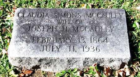 MCCAULEY, CLAUDIA - Juniata County, Pennsylvania | CLAUDIA MCCAULEY - Pennsylvania Gravestone Photos