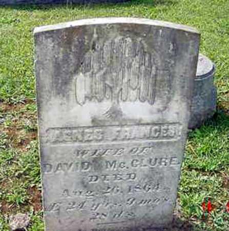 MCCLURE, AGNES FRANCES - Juniata County, Pennsylvania | AGNES FRANCES MCCLURE - Pennsylvania Gravestone Photos