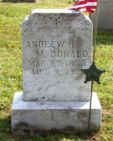 MCDONALD, ANDREW H. - Juniata County, Pennsylvania | ANDREW H. MCDONALD - Pennsylvania Gravestone Photos