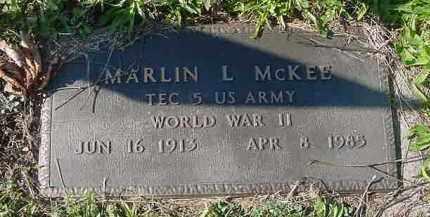 MCKEE, MARLIN L. - Juniata County, Pennsylvania | MARLIN L. MCKEE - Pennsylvania Gravestone Photos