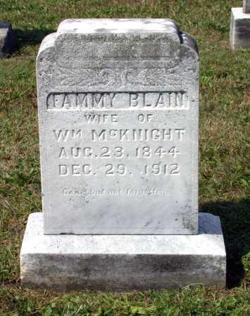 MCKNIGHT, FAMMY - Juniata County, Pennsylvania | FAMMY MCKNIGHT - Pennsylvania Gravestone Photos