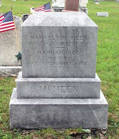 RICE MCMEEN, HANNAH - Juniata County, Pennsylvania | HANNAH RICE MCMEEN - Pennsylvania Gravestone Photos