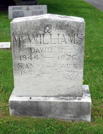 MCWILLIAMS, DAVID BARTON - Juniata County, Pennsylvania | DAVID BARTON MCWILLIAMS - Pennsylvania Gravestone Photos
