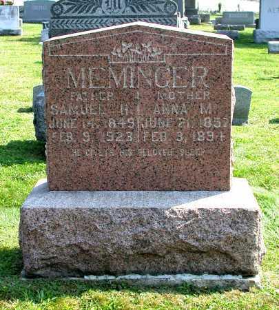 MEMINGER, ANNA M. - Juniata County, Pennsylvania | ANNA M. MEMINGER - Pennsylvania Gravestone Photos