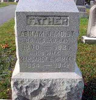 MCMEEN MOIST, MARGARET E. - Juniata County, Pennsylvania | MARGARET E. MCMEEN MOIST - Pennsylvania Gravestone Photos