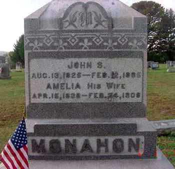 MONAHON, AMELIA - Juniata County, Pennsylvania | AMELIA MONAHON - Pennsylvania Gravestone Photos