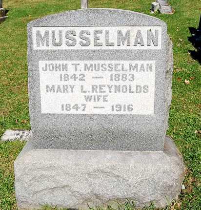 REYNOLDS MUSSELMAN, MARY L. - Juniata County, Pennsylvania | MARY L. REYNOLDS MUSSELMAN - Pennsylvania Gravestone Photos