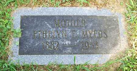MYERS, ETHELYN E. - Juniata County, Pennsylvania   ETHELYN E. MYERS - Pennsylvania Gravestone Photos