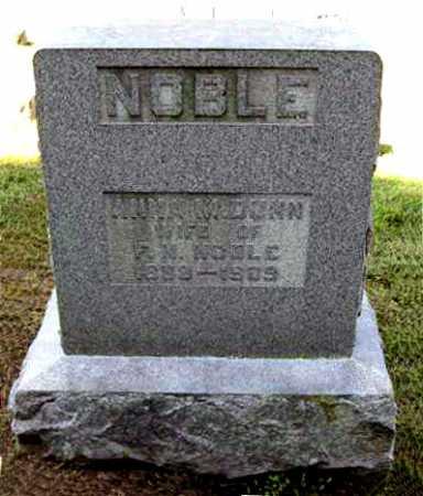 CONN NOBLE, ANNA M. - Juniata County, Pennsylvania | ANNA M. CONN NOBLE - Pennsylvania Gravestone Photos