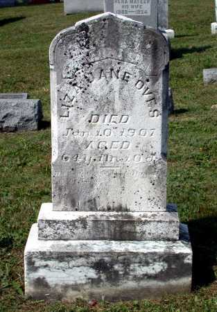 OVES, LIZA JANE - Juniata County, Pennsylvania   LIZA JANE OVES - Pennsylvania Gravestone Photos