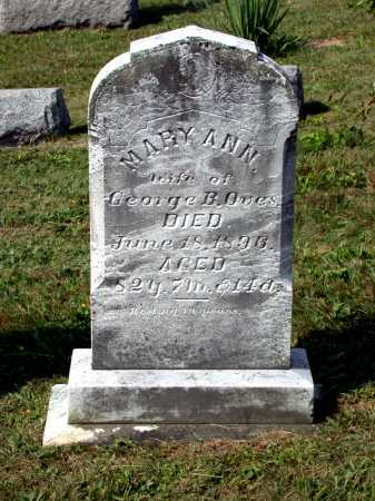OVES, MARY ANN - Juniata County, Pennsylvania | MARY ANN OVES - Pennsylvania Gravestone Photos