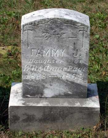 PAIGE, FAMMY J. - Juniata County, Pennsylvania | FAMMY J. PAIGE - Pennsylvania Gravestone Photos