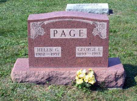 PAGE, HELEN G. - Juniata County, Pennsylvania   HELEN G. PAGE - Pennsylvania Gravestone Photos