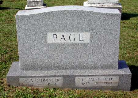 PAGE, GEORGE RALPH - Juniata County, Pennsylvania | GEORGE RALPH PAGE - Pennsylvania Gravestone Photos