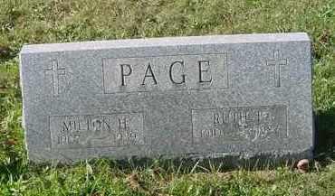 PAGE, MILTON H. - Juniata County, Pennsylvania   MILTON H. PAGE - Pennsylvania Gravestone Photos
