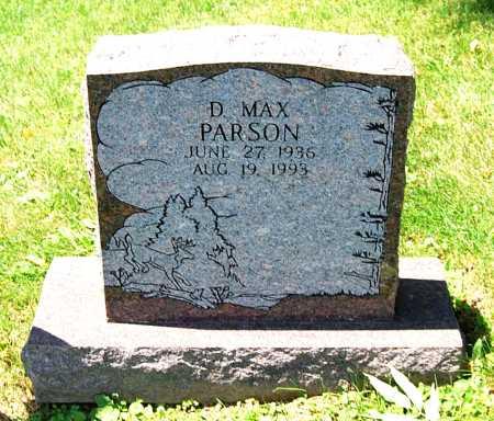 PARSON, D. MAX - Juniata County, Pennsylvania | D. MAX PARSON - Pennsylvania Gravestone Photos