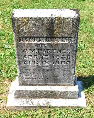 COLLIER PARTNER, JANE E. - Juniata County, Pennsylvania   JANE E. COLLIER PARTNER - Pennsylvania Gravestone Photos