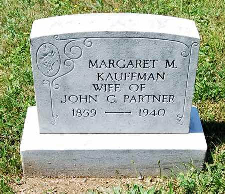 KAUFFMAN PARTNER, MARGARET M. - Juniata County, Pennsylvania | MARGARET M. KAUFFMAN PARTNER - Pennsylvania Gravestone Photos
