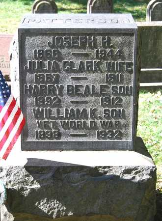 CLARK PATTERSON, JULIA MCCULLOGH - Juniata County, Pennsylvania | JULIA MCCULLOGH CLARK PATTERSON - Pennsylvania Gravestone Photos
