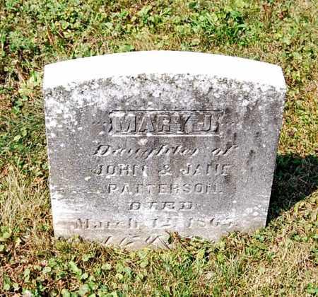 PATTERSON, MARY J. - Juniata County, Pennsylvania   MARY J. PATTERSON - Pennsylvania Gravestone Photos