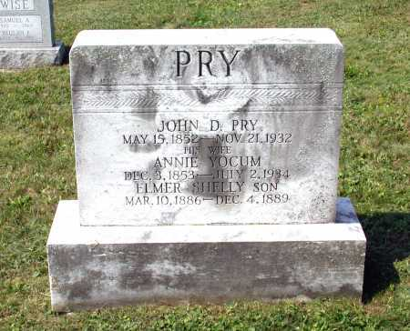 PRY, ELMER SHELLEY - Juniata County, Pennsylvania | ELMER SHELLEY PRY - Pennsylvania Gravestone Photos
