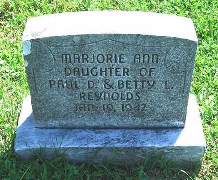 REYNOLDS, MARJORIE ANN - Juniata County, Pennsylvania | MARJORIE ANN REYNOLDS - Pennsylvania Gravestone Photos