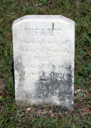 RICE, (INFANT) - Juniata County, Pennsylvania | (INFANT) RICE - Pennsylvania Gravestone Photos