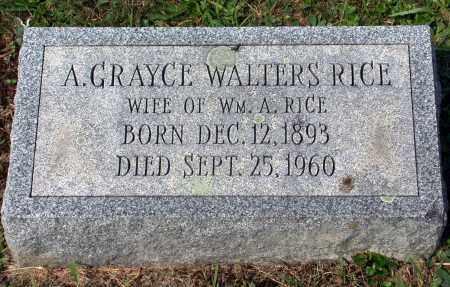 WALTERS RICE, A. GRAYCE - Juniata County, Pennsylvania | A. GRAYCE WALTERS RICE - Pennsylvania Gravestone Photos