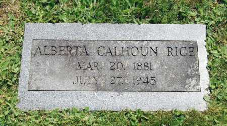 CALHOUN RICE, ALBERTA M. - Juniata County, Pennsylvania | ALBERTA M. CALHOUN RICE - Pennsylvania Gravestone Photos