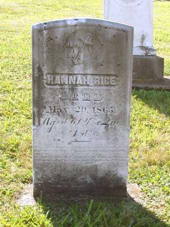 RICE, HANNAH - Juniata County, Pennsylvania | HANNAH RICE - Pennsylvania Gravestone Photos