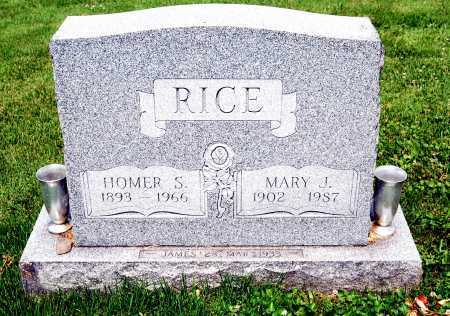 RICE, HOMER S. - Juniata County, Pennsylvania | HOMER S. RICE - Pennsylvania Gravestone Photos