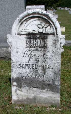 RICE, SARAH - Juniata County, Pennsylvania | SARAH RICE - Pennsylvania Gravestone Photos