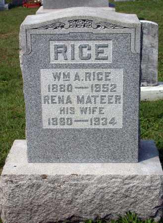 RICE, WILLIAM AUSTIN - Juniata County, Pennsylvania | WILLIAM AUSTIN RICE - Pennsylvania Gravestone Photos