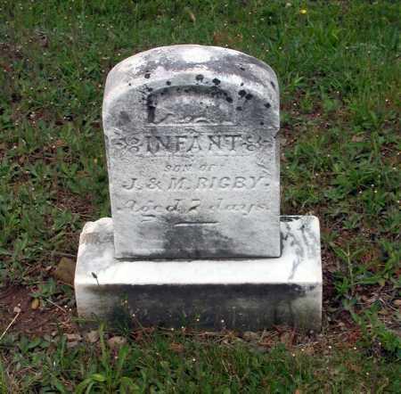 RIGBY, (INFANT SON) - Juniata County, Pennsylvania   (INFANT SON) RIGBY - Pennsylvania Gravestone Photos