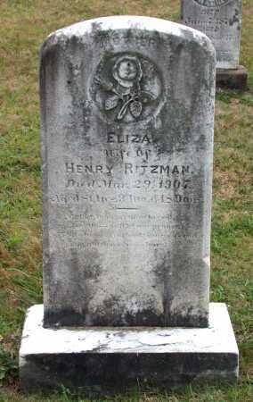 "HIPPLE RITZMAN, ELIZABETH ""ELIZA"" - Juniata County, Pennsylvania | ELIZABETH ""ELIZA"" HIPPLE RITZMAN - Pennsylvania Gravestone Photos"