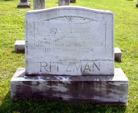 "RITZMAN, MARY JANE ""JENNIE"" - Juniata County, Pennsylvania | MARY JANE ""JENNIE"" RITZMAN - Pennsylvania Gravestone Photos"