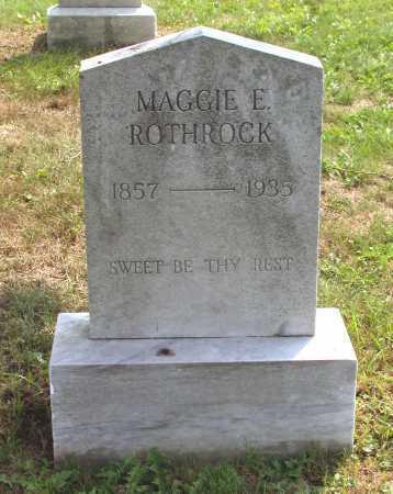 ROTHROCK, MAGGIE E. - Juniata County, Pennsylvania | MAGGIE E. ROTHROCK - Pennsylvania Gravestone Photos