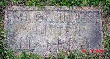RUTTER, SADIE - Juniata County, Pennsylvania | SADIE RUTTER - Pennsylvania Gravestone Photos