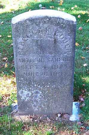 CODER SANDOE, REBECCA KELLY - Juniata County, Pennsylvania   REBECCA KELLY CODER SANDOE - Pennsylvania Gravestone Photos