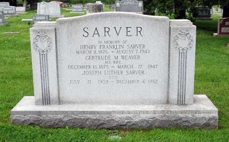 SARVER, GERTRUDE MARGARET - Juniata County, Pennsylvania | GERTRUDE MARGARET SARVER - Pennsylvania Gravestone Photos