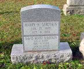 SEROTKIN, HARRY N. - Juniata County, Pennsylvania | HARRY N. SEROTKIN - Pennsylvania Gravestone Photos
