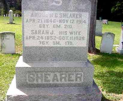 SHEARER, SARAH J. - Juniata County, Pennsylvania | SARAH J. SHEARER - Pennsylvania Gravestone Photos