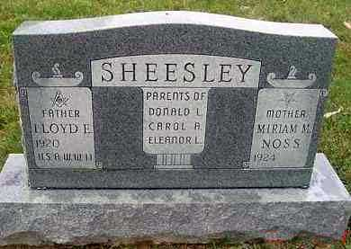SHEESLEY, LLOYD E. - Juniata County, Pennsylvania | LLOYD E. SHEESLEY - Pennsylvania Gravestone Photos