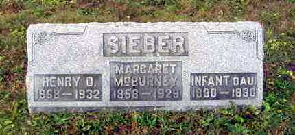 SIEBER, (INFANT DAUGHTER) - Juniata County, Pennsylvania | (INFANT DAUGHTER) SIEBER - Pennsylvania Gravestone Photos