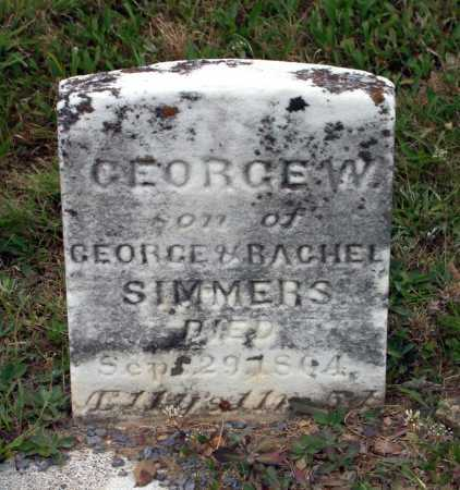 SIMMERS, GEORGE W. - Juniata County, Pennsylvania | GEORGE W. SIMMERS - Pennsylvania Gravestone Photos
